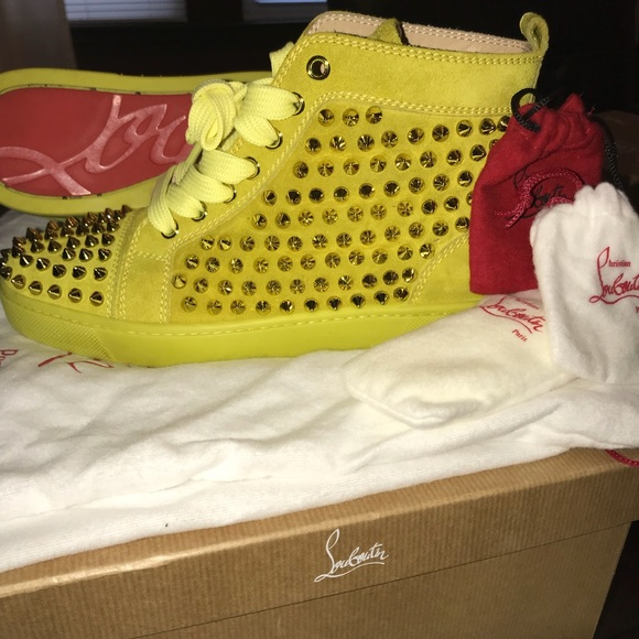 Christian Louboutin Neon Green Spiked